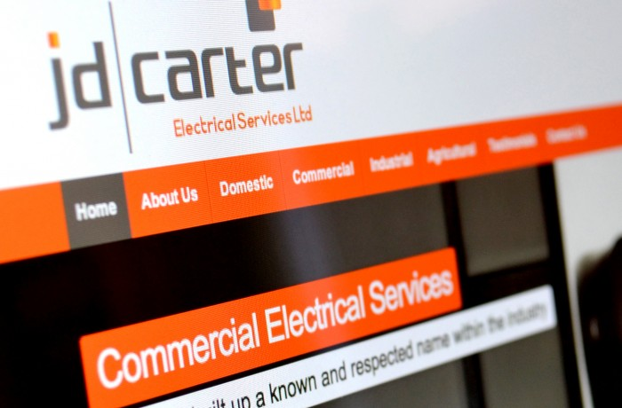 JD Carter Electrical website
